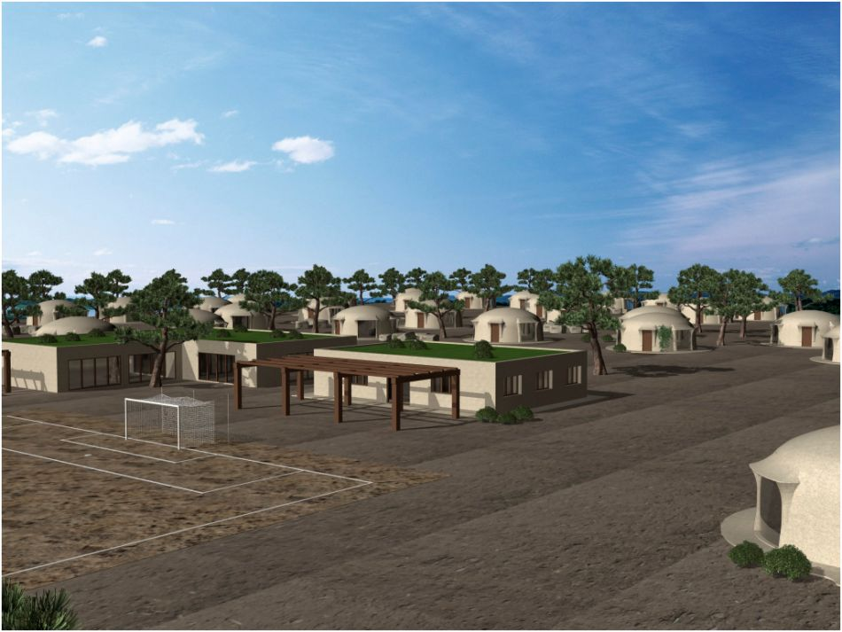Viviendas ecologicas plano casa sostenible santiago for Casa vivienda jardin pdf